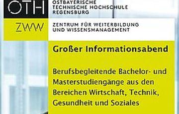 Informationsabend zu berufsbegleitenden Bachelor- und Masterstudiengängen an der OTH Regensburg