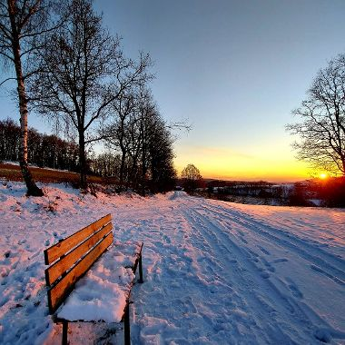 Sonnenuntergang bei Ruderszell - Gabriele Kerscher