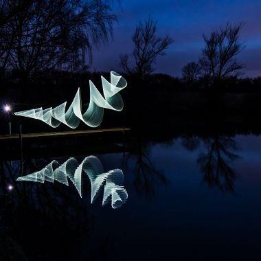 Lightpainting am Fischteich - Heinz Hornik