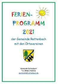 Ferienprogramm 2021 der Gemeinde Rettenbach