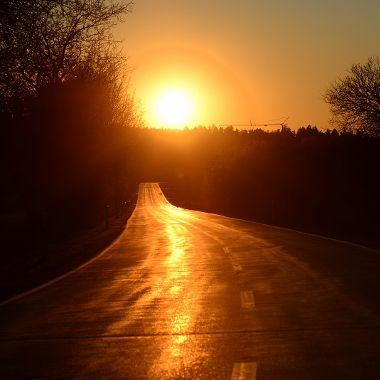 Sonnenuntergang Ebersroith nach Rettenbach - Inge Prommersberger