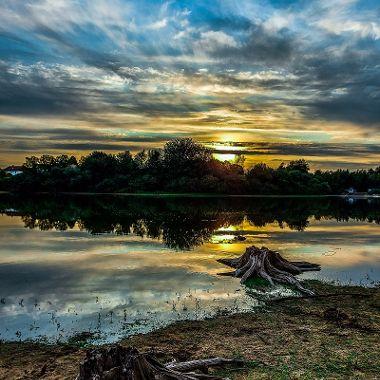 Sonnenuntergang Stausee - Gabriele Kerscher